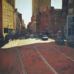 Liverpool street - 2015 acrilico su tela cm 100x100